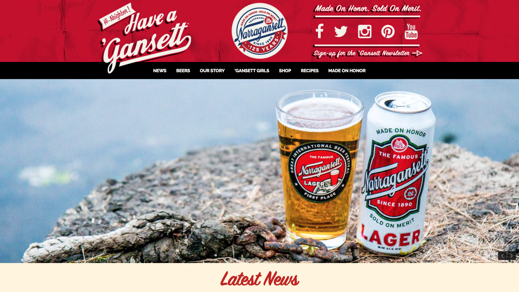 Website Narragansett Beer